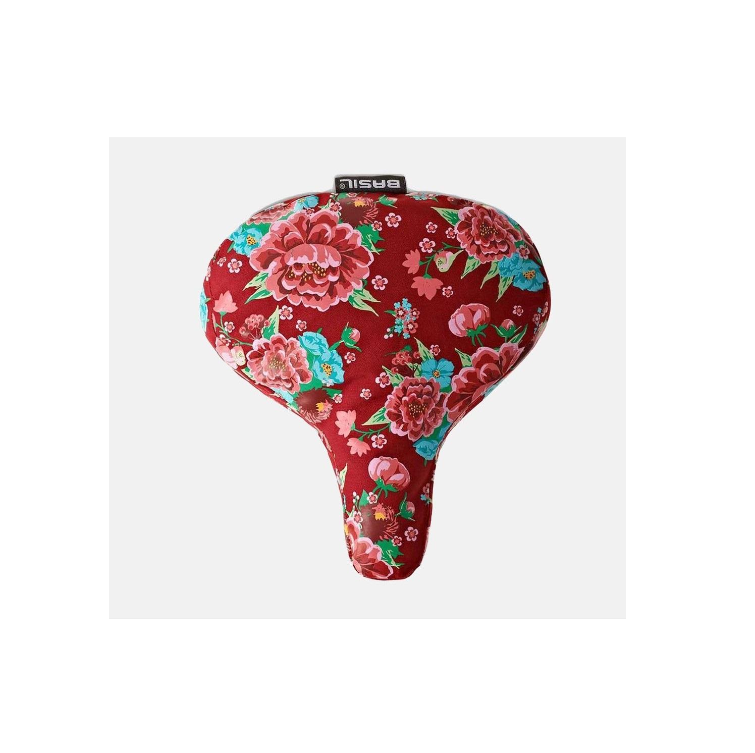 Capa de Selim Basil Bloom Saddle Cover Scarlet Red Go By Bike