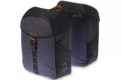 Basil Miles Double Bag Bolsa Black Go by Bike