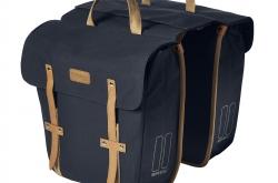 Basil Portland Slimfit Double Bag Dark Blue alforge bicicleta
