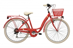 """Bicicleta Adriatica Panda Vermelha 26"""" Go by Bike"""